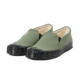 [펀]FERN_슬립온 올리브 캔버스/블랙Army Slippon Model Olive Canvas/Black