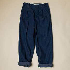 [도큐먼트]DOCUMENT_ 데님 트루저 DENIM TUCKED TROUSERS