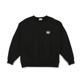 [엠.니]M.Nii_스웻 크루 블랙 M.Nii x HIBROW Sweat Crew Black