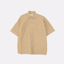 [단톤]DANTON_빅 워크 코튼셔츠 탄 JD-3654 MSA BIG WORK COTTON SHIRTS (UNISEX) TAN