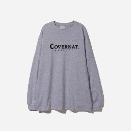 [커버낫]COVERNAT_L/S 어쎈틱 로고 티 라이트블루 L/S AUTHENTIC LOGO TEE LIGHT BLUE