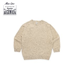 [빅유니온]Big Union_웜 톤 울 새들 니트 맨 오트밀 Warm Tone Wool Saddle Knit For Men Oatmeal
