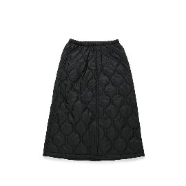 [빅유니온]Big Union_BU M 퀼티드 스커트 블랙 BU M Quilted Skirt Black