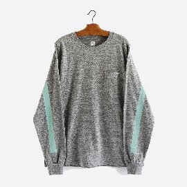 [캡틴선샤인]KAPTAIN SUNSHINE_웨스트 코스트 롱슬리브 티_West Coast L / S Tee [FETHERGREY × MINT GREEN]