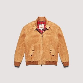 [바라쿠타] BARACUTA_G9 Padded Winter Suede Harrington Jacket Tobacco