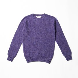 [할리오브스코틀랜드] HARLEY OF SCOTLAND_ 셰기 독 크루넥 스웨터 Shaggy Dog Crew Neck Sweater - royal violet