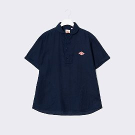 [단톤]DANTON_라운드 칼라 린넨 셔츠 JD-3565 KLS  ROUND COLLAR LINEN SHIRTS NEW NAVY