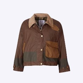 [바버]BARBOUR_바버 알렉사청 패트리샤 왁스 자켓 브라운_BARBOUR BY ALEXACHUNG PATRICIA WAXED COTTON JACKET BROWN (WOMENS)