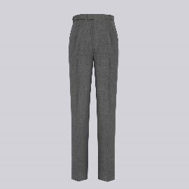 [데 엠브로시] THE AMBROSI _Single-pleated Trousers in grey wool