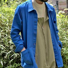 [르 몽생미셸] LE MONT SAINT MICHEL _Cotton twill work jacket vivid blue (MENS)