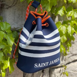 [세인트제임스]SAINT JAMES_SAC A DOS NEO Marine/Blanc